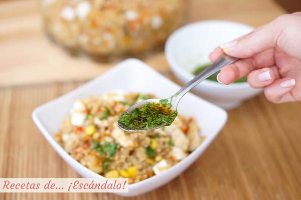 Alino thai para la ensalada de quinoa