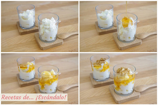 Como hacer queso fresco con miel y nueces (mel i mato)