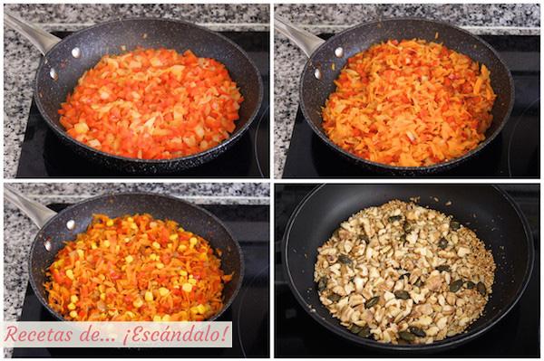 Verduras para la ensalada de quinoa