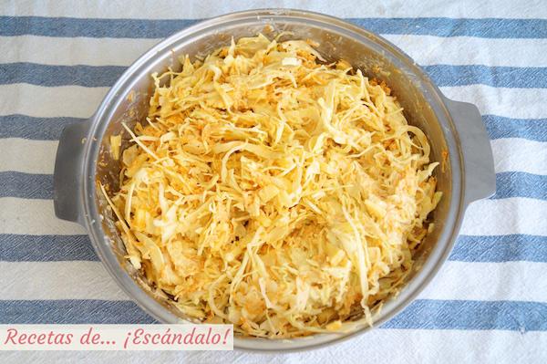 Ensalada de col y zanahorias americana o coleslaw lista