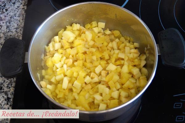 Frutas para la salsa curry