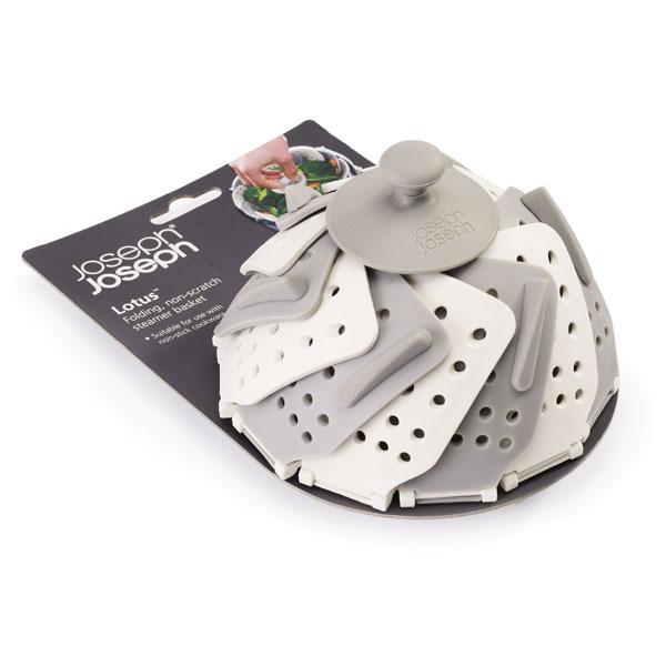 JJ40024-Vaporera-plegable-con-mango-y-patas-Lotus-Plus-joseph-gris-blanca-2