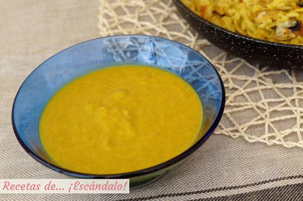 Receta de salsa curry casera sin nata