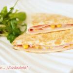 Cómo hacer quesadillas mexicanas de jamón y queso