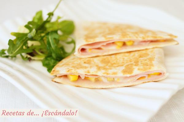 Como hacer quesadillas mexicanas de jamon y queso