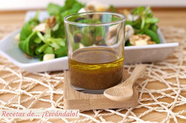 Receta de vinagreta de mostaza y miel, ideal para ensaladas