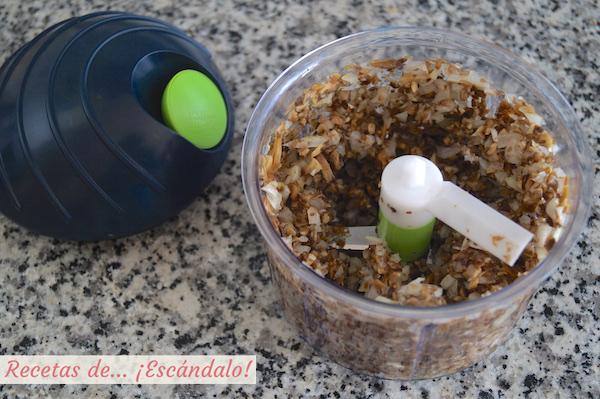 Ingredientes picados con chop chop