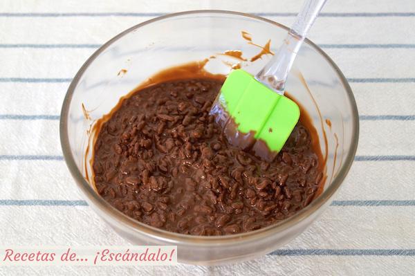 Mezcla para el turron de chocolate