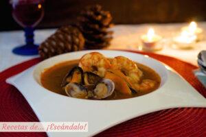 Sopa de marisco, receta fácil y casera