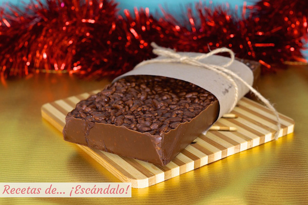 Receta de turron de chocolate