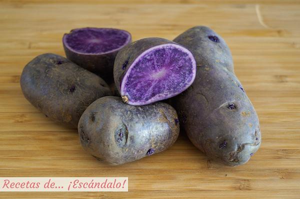 Patata morada