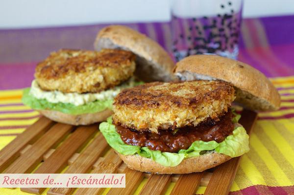 Receta de hamburguesas vegetales de tofu y garbanzos caseras