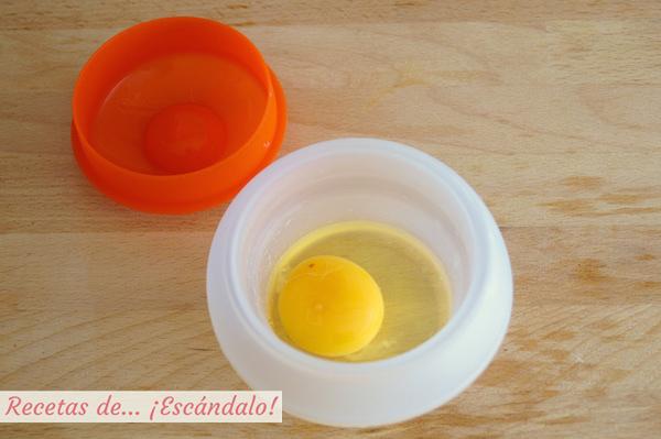 Huevos poche o escalfados en microondas
