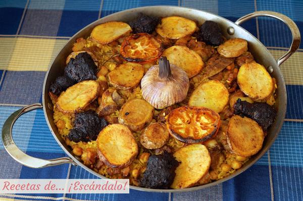 Arroz al horno valenciano tradicional