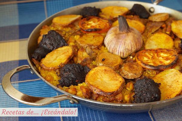 Receta de arroz al horno valenciano