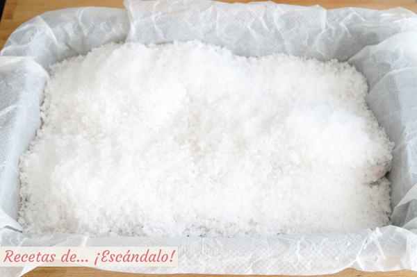 Dorada a la sal al horno