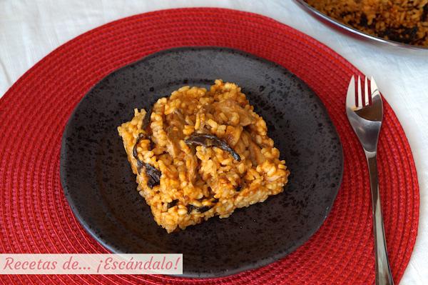Receta de arroz con setas