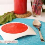 Gazpacho de remolacha, receta muy facil y fresquita