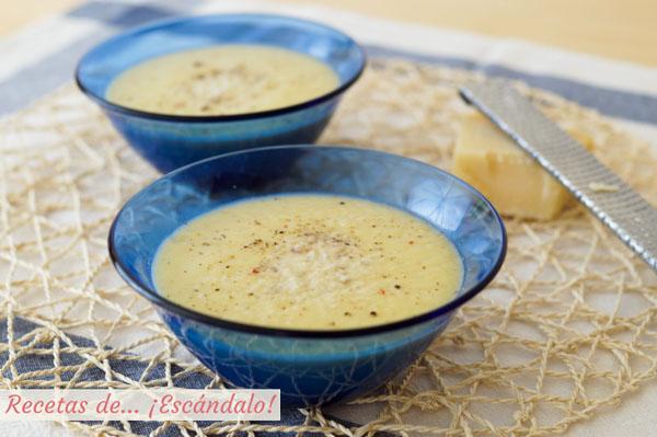 Receta de pure de calabacin y puerros con queso