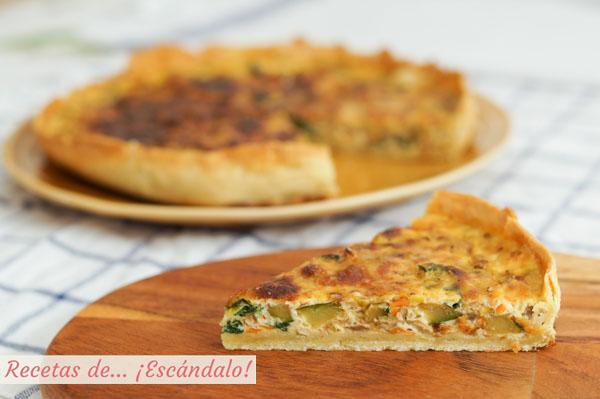 Receta de quiche de verduras y queso