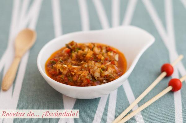 Receta de salsa chimichurri casera, tipica argentina
