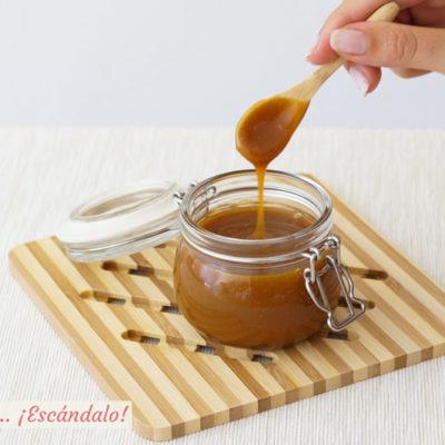 Caramelo salado casero o toffee