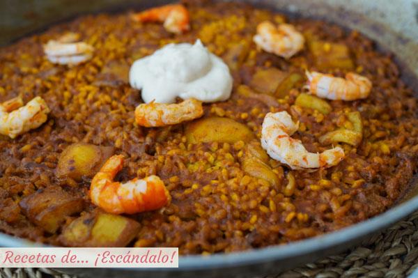 Receta tradicional de arroz a banda