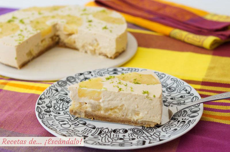 Tarta De Piña Y Yogur Fría Sin Horno Receta Fácil