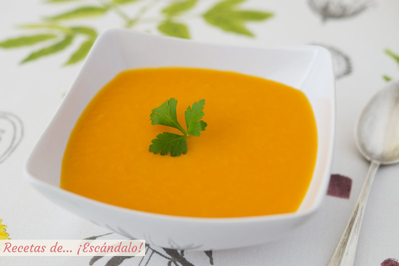 Pure de calabaza. Receta facil y saludable