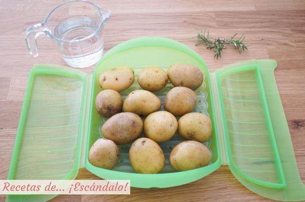Guarnicion de patatas tiernas