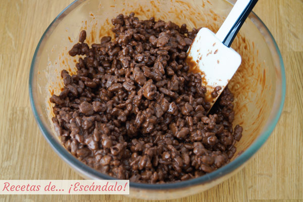 Ingredientes base tarta turron de chocolate