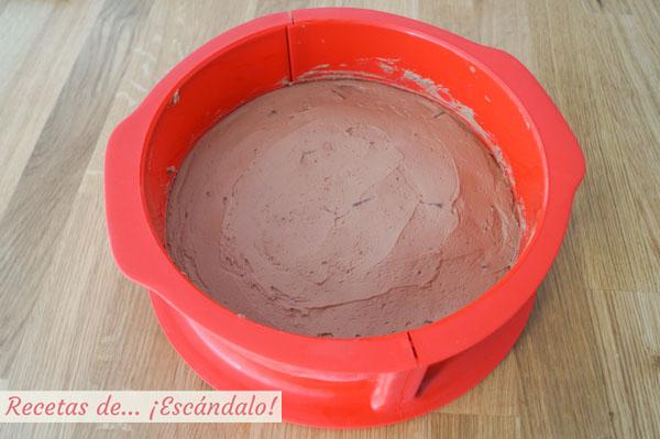 Tarta de turron de chocolate y queso