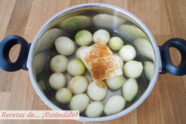 Cebollitas francesas glaseadas y caramelizadas