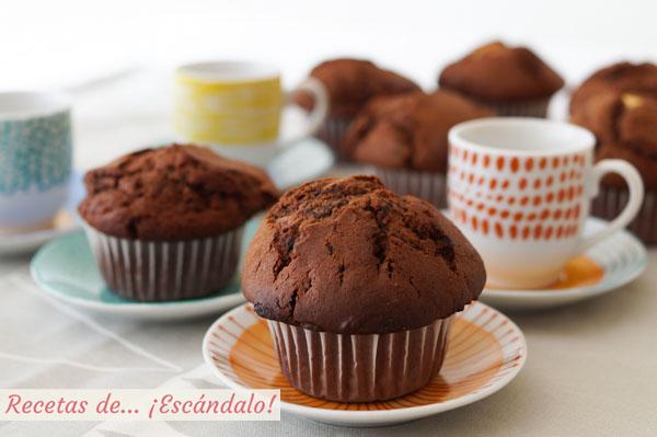Como hacer muffins de chocolate caseros, faciles y riquisimos