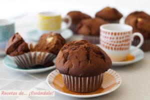 Muffins de chocolate. Receta muy fácil y riquísima