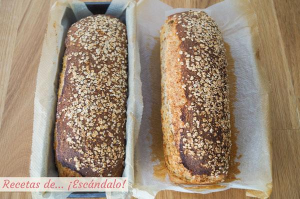 Pan de avena casero en molde