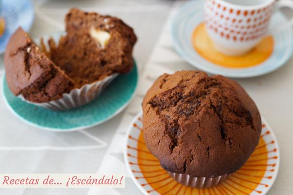 Receta de muffins de chocolate caseros
