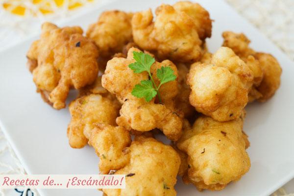 Receta tradicional de bunuelos de bacalao esponjosos y crujientes por fuera