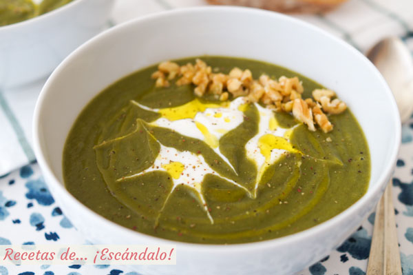 Receta facil, rica y saludable de pure de verduras o crema de verduras