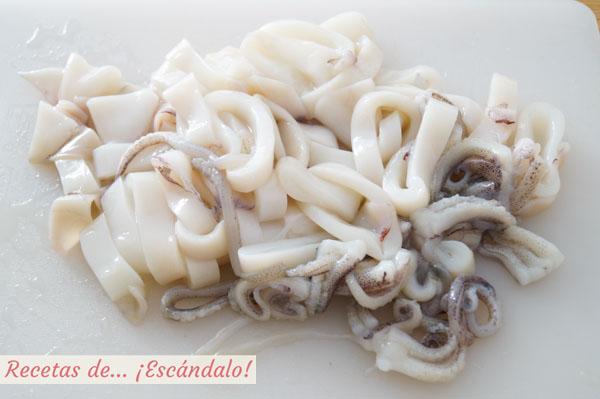 Calamares en anillas