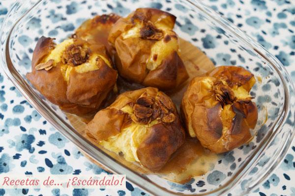 Receta de manzanas asadas al horno con canela y almendras