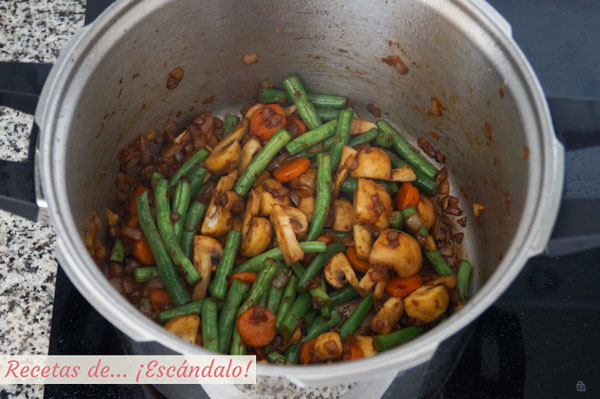 Verduras para el guiso de carne