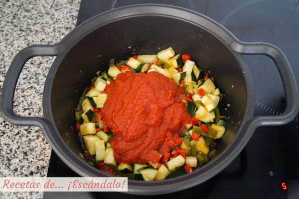 Pisto manchego tradicional de verduras