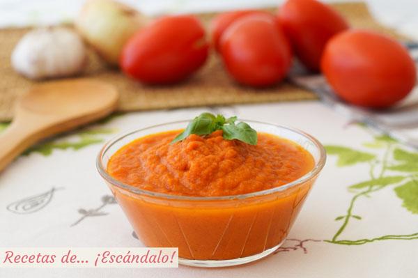 Como hacer salsa de tomate casera o salsa pomodoro sin pieles ni pepitas
