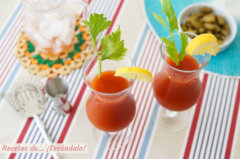 Como preparar un refrescante Bloody Mary. Lista de ingredientes y receta