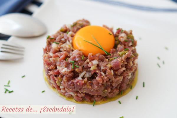 Receta de steak tartar de carne con el mejor alino que hayas probado