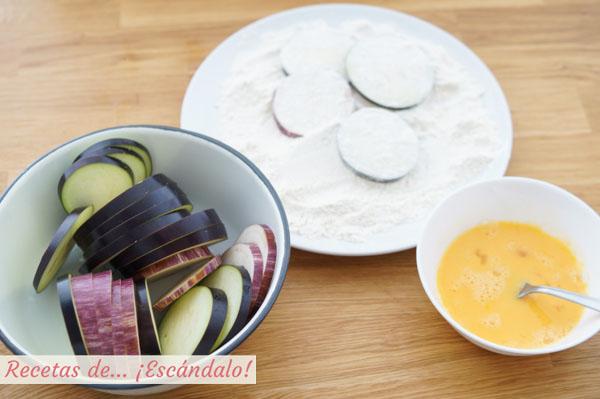 Como hacer berenjenas fritas rebozadas