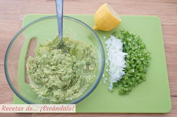 Ingredientes guacamole casero