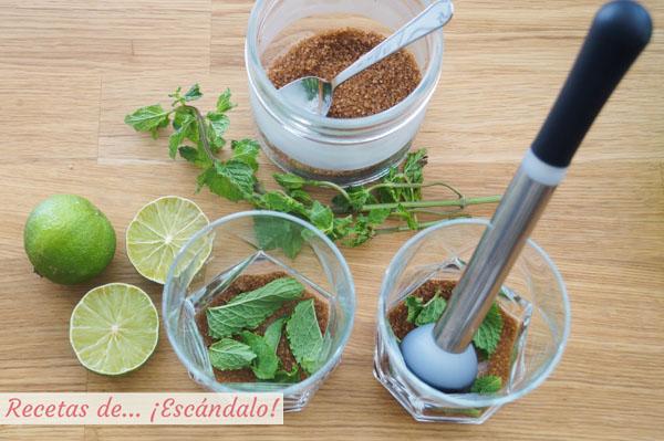 Ingredientes mojito cubano