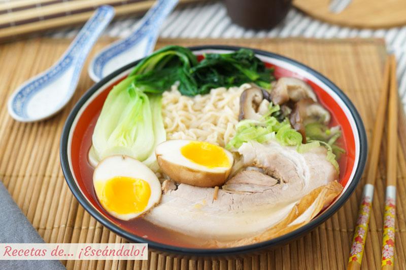 Ramen casero, una sopa japonesa deliciosa y reconfortante